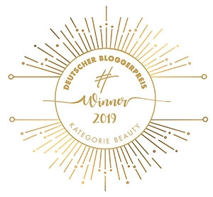 Winner Deutscher Bloggerpreis 2019 in der Kategorie Beauty